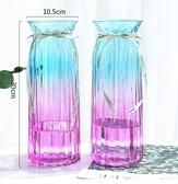 花瓶 玻璃花瓶簡約創意水養富貴竹百合花瓶客廳插花擺件【快速出貨八折下殺】