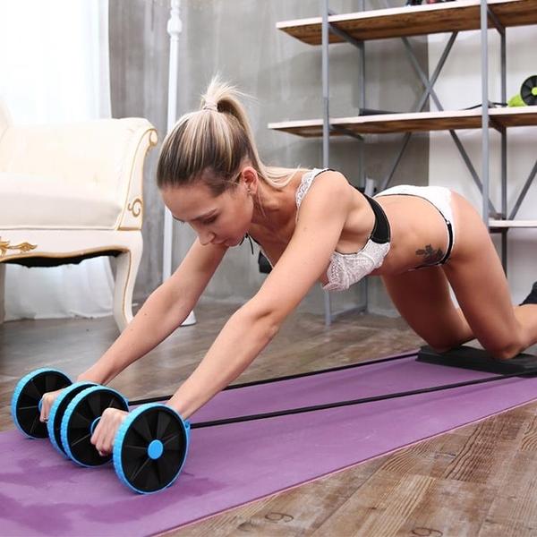健腹輪腹肌初學者健身器材家用收腹減肚子瘦腰腹部運動馬甲線女男 快速出貨