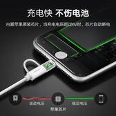 蘋果安卓二合一數據線拖mfi認證iPhone5/6s/7/8手機快充電線  百姓公館