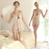情趣性感睡衣火辣透視網紗露乳吊帶小胸睡裙激情套裝性感大碼蕾絲睡衣  圖拉斯3C百貨