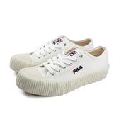 FILA 休閒運動鞋 女鞋 白色 帆布 厚底 4-C910T-113 no051