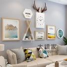 壁畫 北歐風格客廳餐廳飯廳裝飾畫現代簡約沙發背景牆掛畫臥室輕奢牆畫T