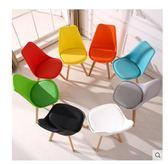 洽談椅電腦椅簡約現代餐桌椅簡易防滑坐墊椅子木質辦公椅會議椅WY【折現卷+85折】