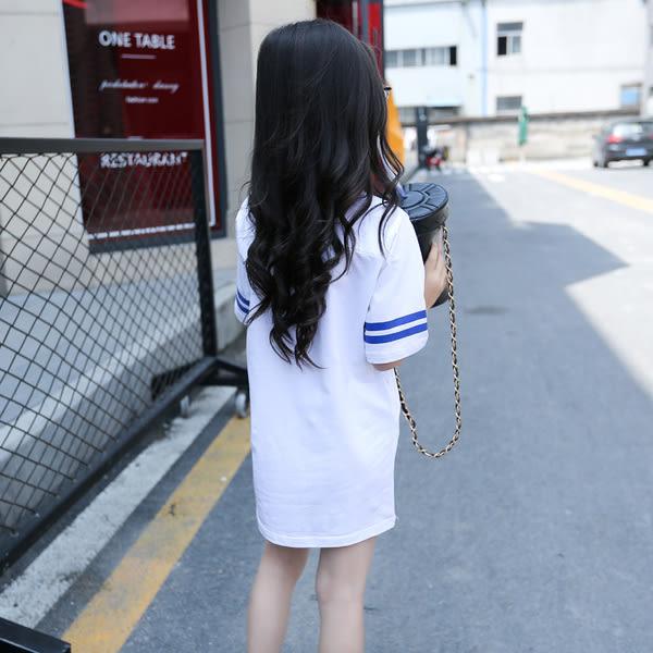 *╮小衣衫S13╭*中大童no50運動風長版T      1060606