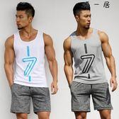 運動健身背心男T恤無袖速干跑步健身服