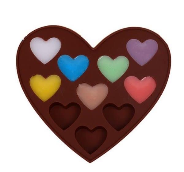 情人節 巧克力模 10入心型巧克模 果凍模 皂模 冰塊模 想購了超級小物