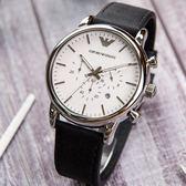 EMPORIO ARMANI 亞曼尼 AR1807 都會時尚腕錶 44mm 熱賣中!