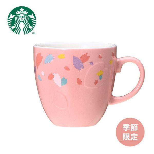 日本原裝?星巴克 STARBUCKS SAKURA 2018 Magpetal壓花底馬克杯櫻花粉355毫升