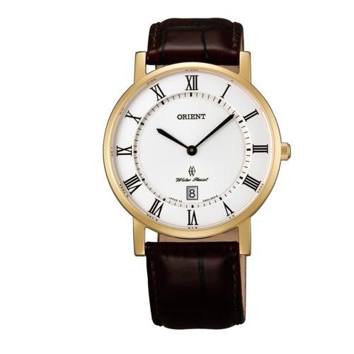 ORIENT 東方錶 SLIM系列 超薄簡約優雅石英錶/白/FGW0100FW