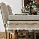 時尚田園法式複古桌布餐桌布 茶几布書桌布電視櫃蓋巾(140*220cm)