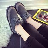 低筒雪靴-時尚潮流簡約百搭女厚底靴子3色73kg37[巴黎精品]