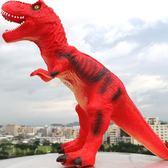 仿真軟膠大號恐龍玩具電動霸王龍動物模型 cf