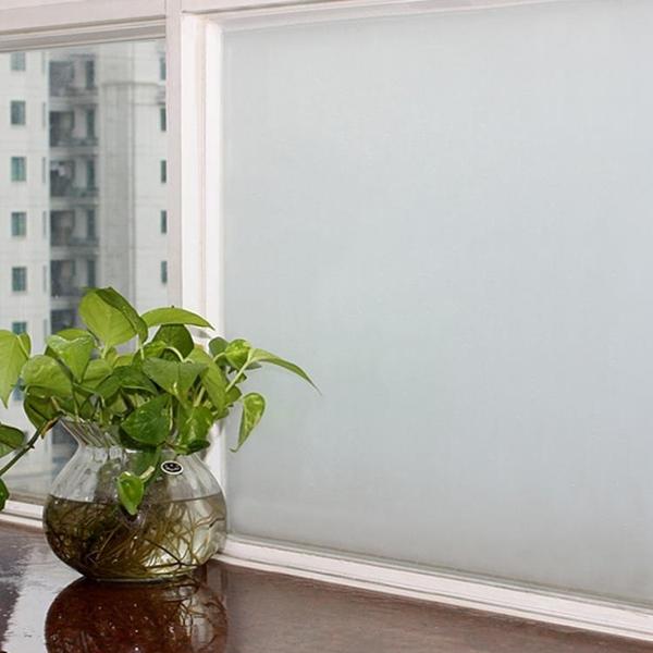 免膠靜電磨砂玻璃貼紙辦公室透光不透明衛生間臥室窗戶花貼膜 mks宜品