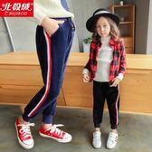 童褲 女童褲子秋冬裝新款韓版兒童裝打底褲加絨加厚一體外穿運動褲