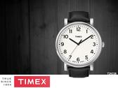 【時間道 】TIMEX天美時 經典簡約復刻皮帶腕錶– 數字刻白面黑皮帶(T2N338)免運費