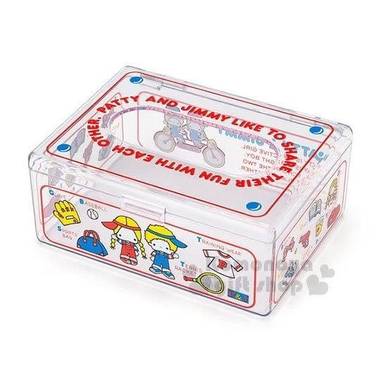 〔小禮堂〕Patty&Jimmy 迷你壓克力面紙盒《紅藍.透明》收納盒.袖珍面紙 4901610-39640