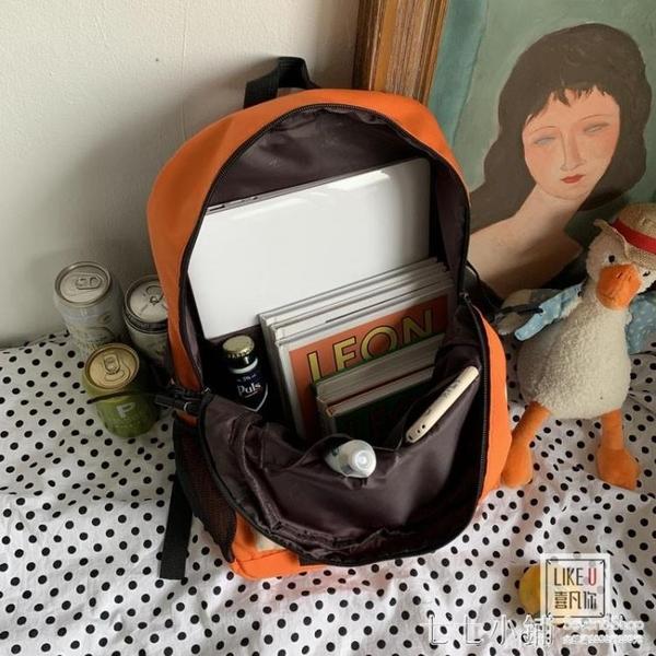 日系原創防水潮男少女雙肩書包chic韓版包百搭森系情侶旅行包背包