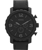 FOSSIL 大世紀戰神三眼計時腕錶/手錶-黑 JR1354