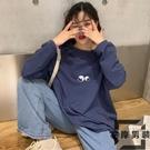 韓版寬松上衣女裝長袖T恤女寬鬆【左岸男裝】