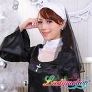 幹嘛一直盯著人家瞧!沒見過這麼美的修女嗎 ♥ 俏麗修女服♥ A0354BK