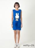【2%】miffy X 2% 米飛生日會綁帶背心洋裝_藍