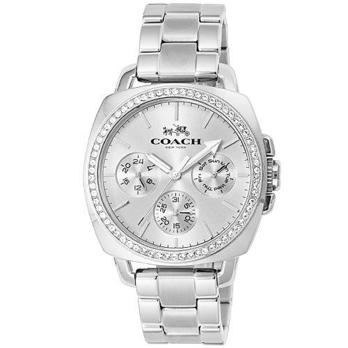 COACH 時尚耀眼LOGO面盤女腕錶/50mm/14502079