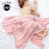 雙11鉅惠 muslin嬰兒紗布被子夏季薄款裹布新生兒童竹纖維包巾抱被寶寶蓋毯 芥末原創