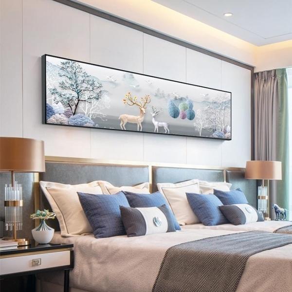 臥室裝飾畫床頭裝飾 臥室背景牆溫馨主臥掛畫酒店床頭壁畫臥室MBS「時尚彩紅屋」