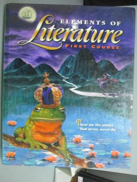 【書寶二手書T7/原文書_ZIK】Elements of Literature: First Course_Not Av