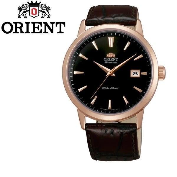【分期0利率】ORIENT 東方錶 機械錶 玫瑰金 皮帶 全新原廠公司貨 錶徑4.1公分 FER27002B