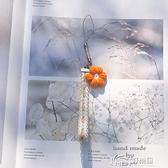 手機吊飾系列 原創花朵手機鏈 掛件 韓國ins小清新掛飾U盤防丟繩手機短繩 好樂匯