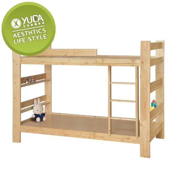 【YUDA】結松 實木 雙層 單人 3尺 床架/床底/床檯 K9F 176-2