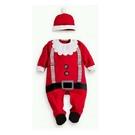新生兒 寶寶 聖誕老人包腳長袖連身衣+聖誕帽 包腳衣 聖誕節 耶誕節 橘魔法 童裝 現貨 聖誕服裝