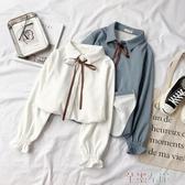 長袖襯衫襯衫秋季女韓版學生小眾上衣加絨設計感長袖保暖冬襯衣潮 芊墨左岸