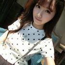 (全館免運) - 韓版經典百搭寬鬆點點短袖T恤女(T-003)均碼