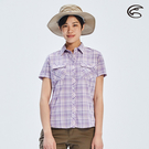 ADISI 女N66 四面彈透氣速乾短袖格紋襯衫AL2011107 (S-2XL) / 城市綠洲 (四向彈性、防曬、速乾)