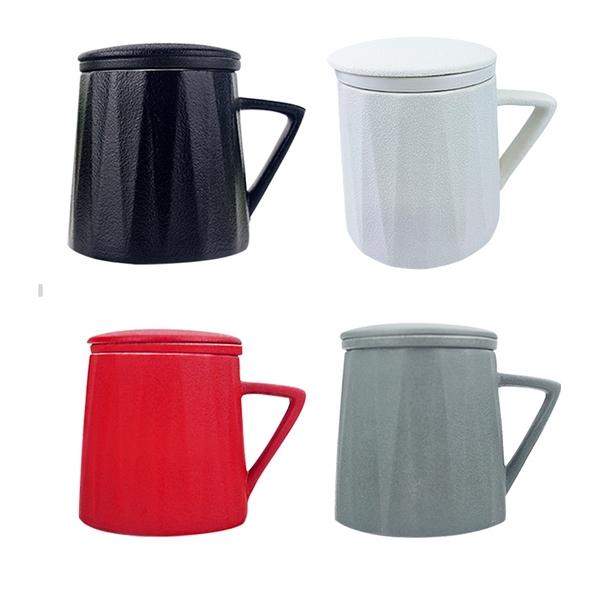 [堯峰陶瓷]三件式蓋杯 四色亮眼登場 附贈茶漏 防塵蓋杯|花茶必備|下午茶|可搭配加溫器