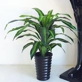 裝飾盆栽 巴西木仿真植物大型盆栽落地塑料綠植室內辦公家居裝飾擺設件