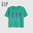 Gap女裝 LOGO字母亮色圓領短袖T恤 582286-翡翠色 17-5641 TCX