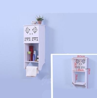 創意衛生間浴室吊櫃壁櫃收納置物架防水掛櫃洗手間【迷你款櫃子】