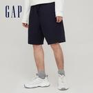 Gap男裝 簡約風格純色鬆緊短褲 841941-海軍藍