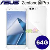 ASUS ZenFone 4 Pro  ZS551KL ◤刷卡,特賣,送透明殼+保護貼◢5.5吋八核心智慧型手機 (6G/64G) 月光白