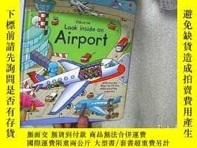 二手書博民逛書店Usborne罕見look inside an Airport