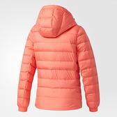 Adidas W CW NUVIC JKT [BQ8758] 女款 休閒 短版 合身 輕量 保暖 羽絨 外套 桃紅