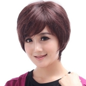 假髮(短髮)真髮絲-帥氣熟齡真髮蓬鬆女假髮2色73ek4【時尚巴黎】