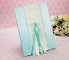 一定要幸福哦~~簽名本(蝴蝶結藍)、婚禮小物、簽名筆、結婚用品