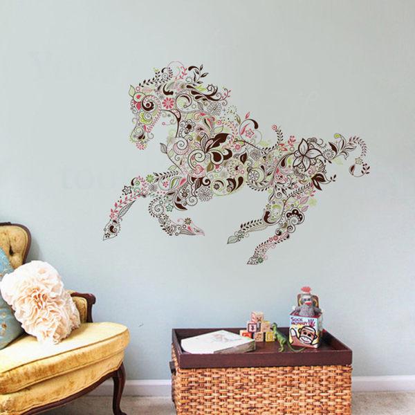創意無痕壁貼 花紋馬《生活美學》