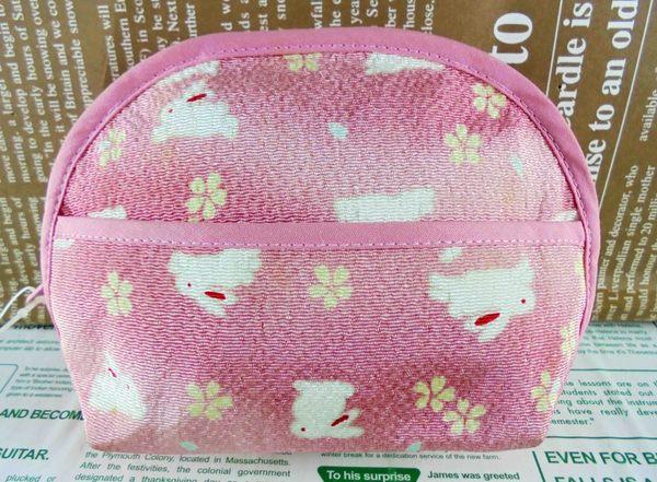 【震撼精品百貨】招財貓_招き猫~面紙化妝包-粉兔子
