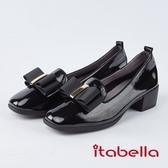 itabella.英倫風-方頭漆皮樂福鞋(8576-94黑色)