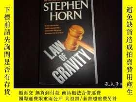 二手書博民逛書店STEPHEN罕見HORN,LAW OF GRAVITYY198